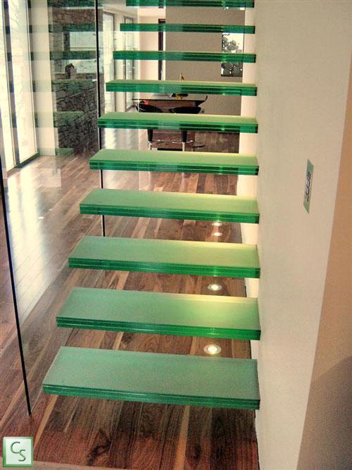 Glazen trappen - Zwevende glazen steektrap
