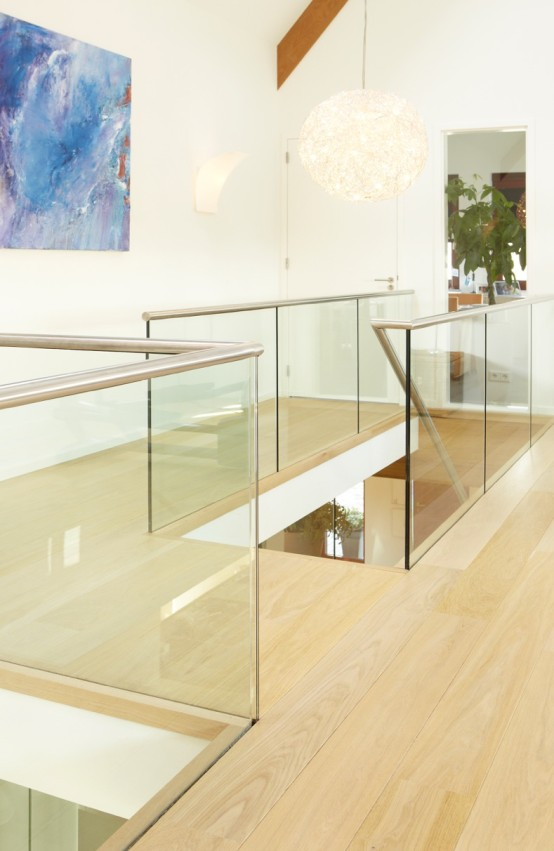 Glazen design balustraden