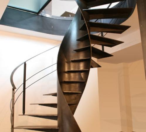 Bijzondere stalen trap